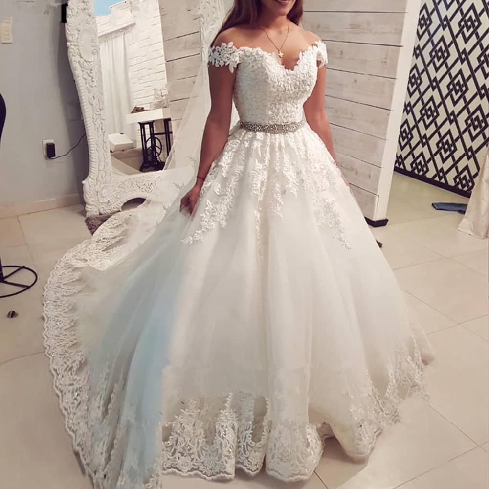 Новый стиль Саудовская Аравия с плеча Урожай кружева Свадебное платье 2020 Бальное платье Милая Свадебные платья Vestido de Noiva Novias Vestidos