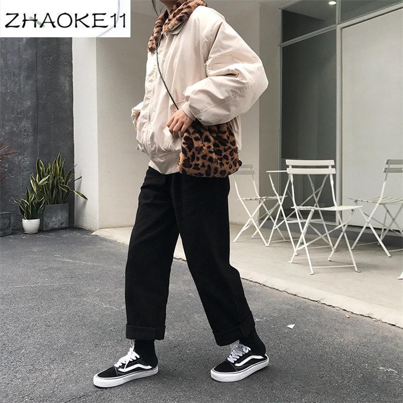 느슨한 높은 허리 얇은 바지 여성 2020 봄과 가을 직선 직선 패션 간단한 캐주얼 단색 바지 여성 야생 fresh11