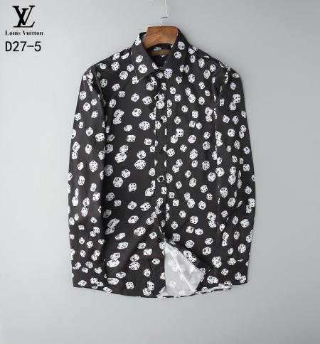 Silk Shirt men Wave Of Men Floral Print Colour Mixture Luxury Casual Harajuku Shirts Long-sleeved Patchwork Men's Medusa Shirts-010