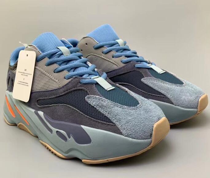 Carbono Azul 700 700 V2 azul del trullo Basf de los zapatos corrientes del mens formadores de diseño Kanye West zapatillas de deporte