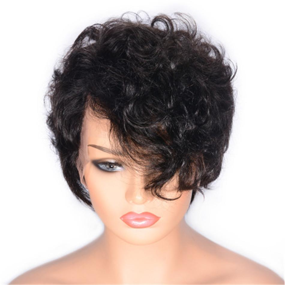 Human Hair Wigs for Black Women Short Human Hair Wigs Brazilian Curly Wigs Natural Color Non Remy Hair