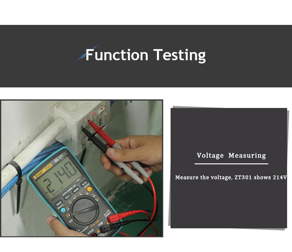 BSIDE ZT301 Handheld Digital Multimeter LCD Display Test Diagnostic Machine Blue