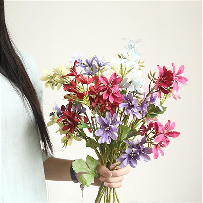 2 Poder Daisy Seda bonitos do casamento da flor do casamento Flor decorativa artificial Segurar Estrada Chumbo decoração de mesa