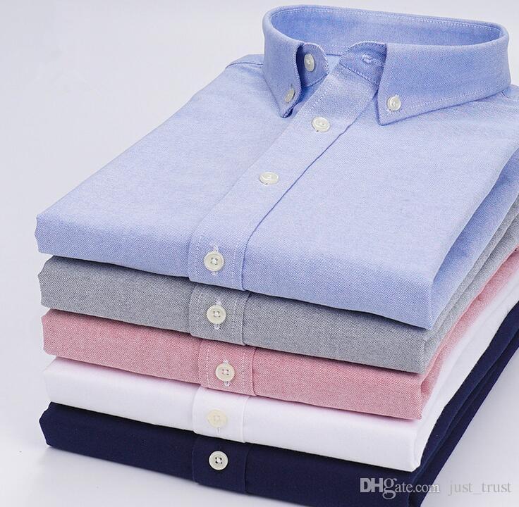 Yeni şık erkekler polo elbise gömlek aşağı uzun kollu özel uygun Namlu Manşetleri atı nedensel erkek gömlek Erkek polo Gömlek düğmesi midilli