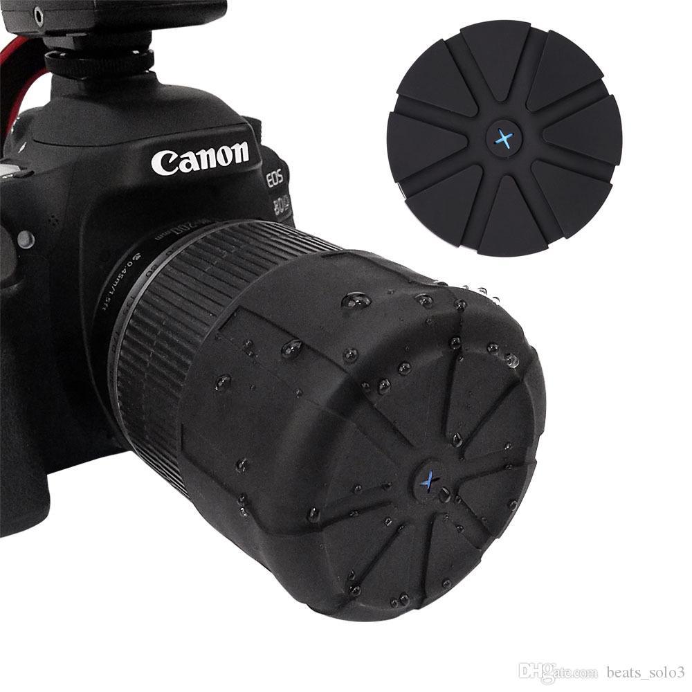 새로운 실리콘 렌즈 커버, SLR 카메라 렌즈 커버, 방진 및 방수 렌즈 커버, 범용 보호 커버 카메라 액세서리