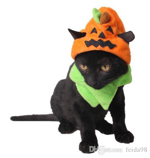 Halloween produtos pet fábrica cão Carnaval Chapéu do Dia das Bruxas Ornamento do gato wl1111 chapéu abóbora macaco