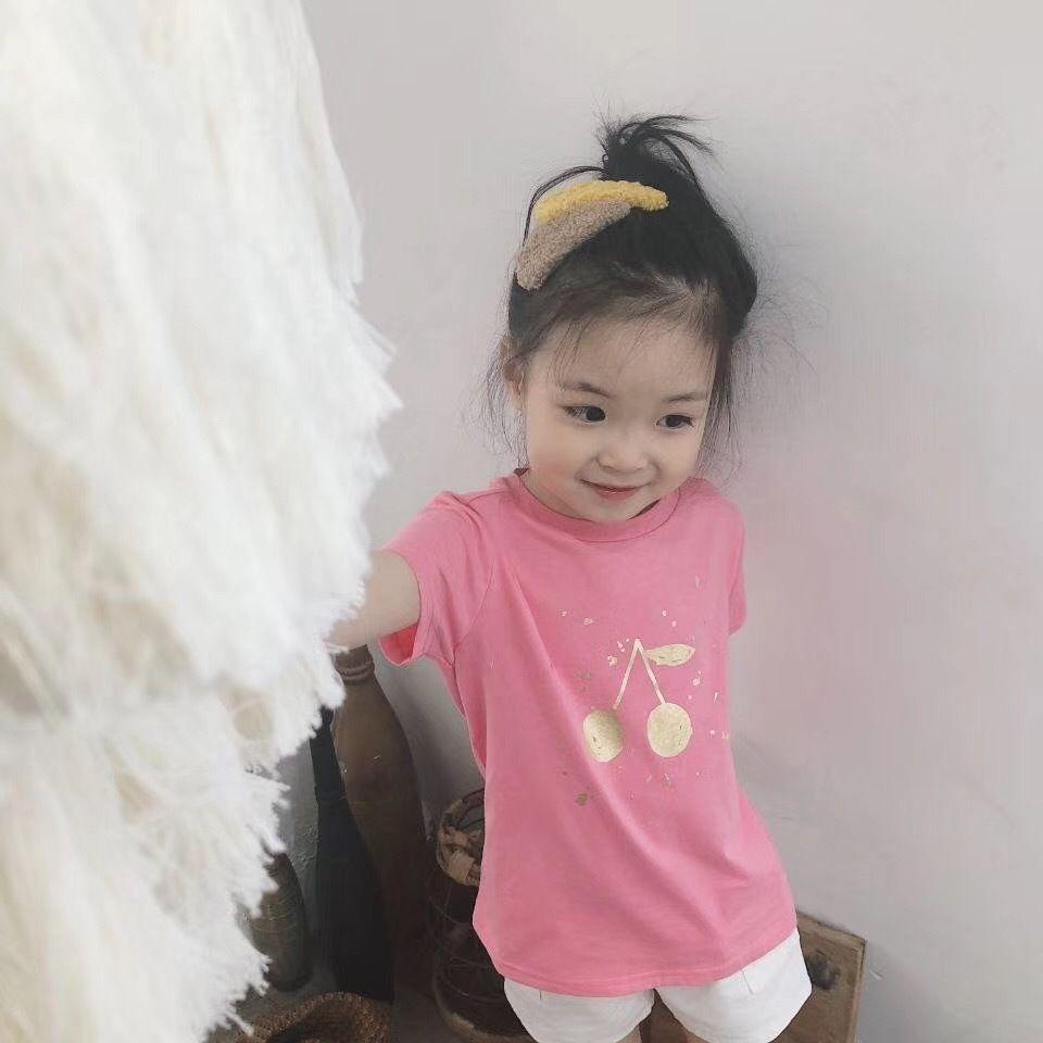 Детская одежда 2019 летняя футболка с коротким рукавом Детская одежда для девочек 100% хлопок с принтом топ мальчиков с коротким рукавом футболки Y190518