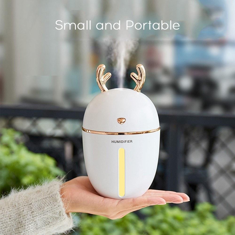 450ml Mini-Luftbefeuchter Diffusor Aromatherapie-Nebel-Hersteller Nachtluftreiniger Luftbefeuchter für Heim Auto-Büro