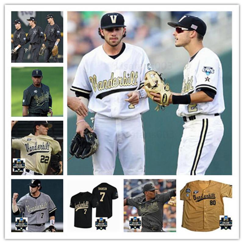 2020 Vanderbilt Commodores Basebal Jersey 2 Harrison Ray 6 Tate Kolwyck 22 Julian Infante 44 Mason Hickman 66 Drake Fellows