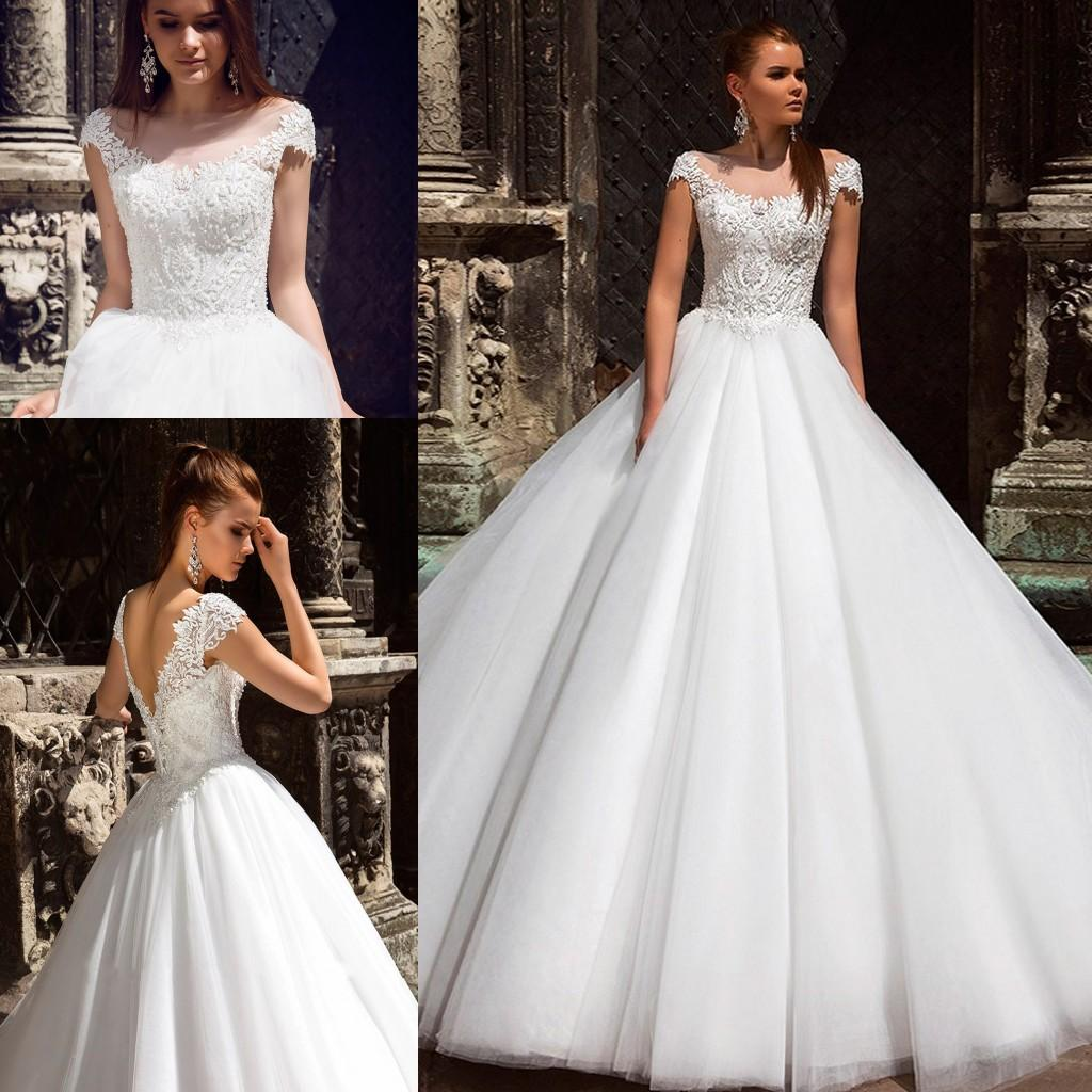 Discount 2020 Luxury Wedding Dress Scoop Neckline With Elegant Beading Pearls On Chest Boho Bridal Dress Customize Size Wedding Dresses For Sale Online Wedding Dresses Strapless From Officesupply 150 22 Dhgate Com,Wedding Dresses For Girls Short Frock