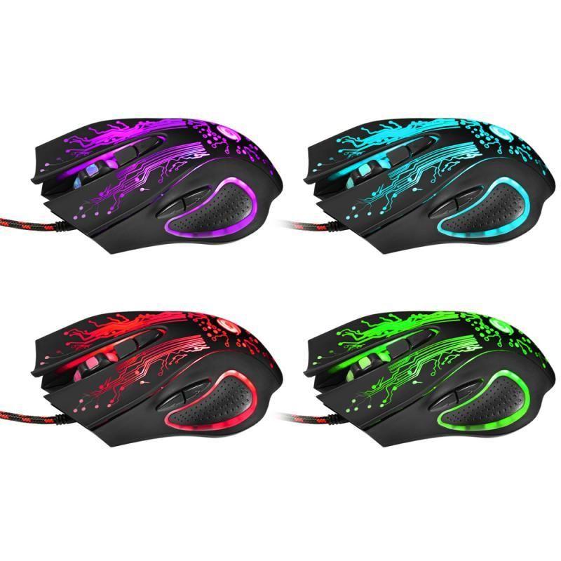 3200DPI LED Effect 6-кнопочная USB Gaming Mouse 2.4G Проводная аккумуляторная Super Slim Приёмник мышь для ПК Windows Латоп взрыва