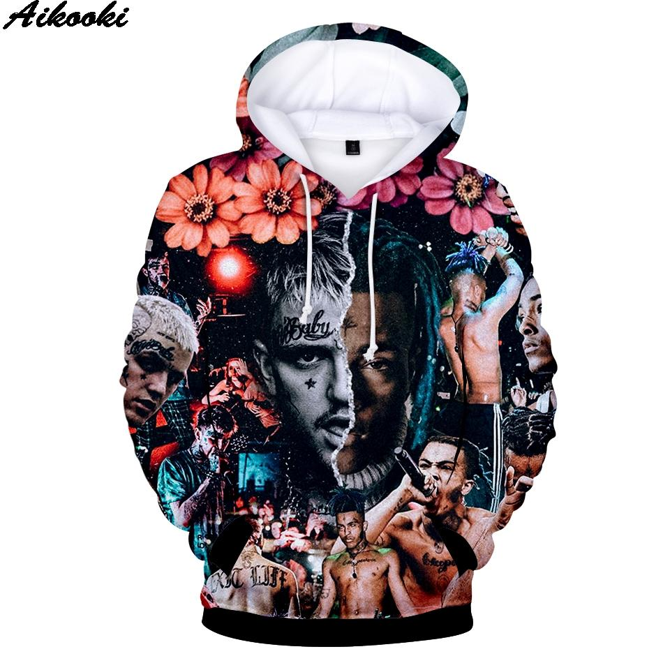 Смешных 3D Volledige печать xxxtentacion Толстовка Толстовка Jongens / Meisjes Hot Кооп Winter Толстовка лил пип Sweatshir Tops