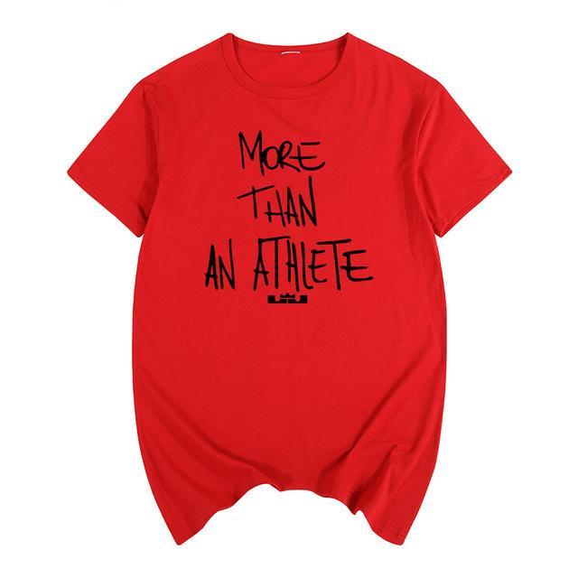 패션 르브론 제임스 같은 스타일 T 셔츠 브랜드 선수 편지 인쇄 O 목 티 셔츠면 짧은 Tshirt보다 더