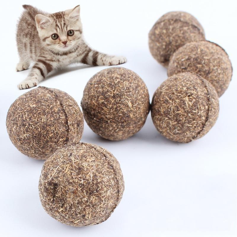 Gesunde Sicher saubere Zähne Mint Kugel Startseite Spielzeug Verfolgen Regula Emotion Multi-Funktions-Cat Natur Catnip Bälle Pet Supplies 2 4CC ff