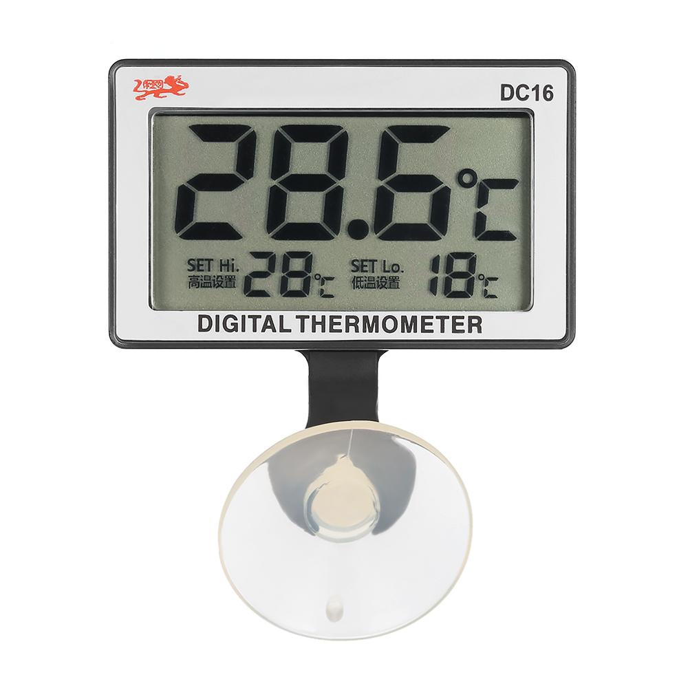 Hot LCD Digital Fish Tank Aquarium Thermometer Submersible Water Fish Tank Temperature Meter 0C~50C High/Low Temperature Alarm