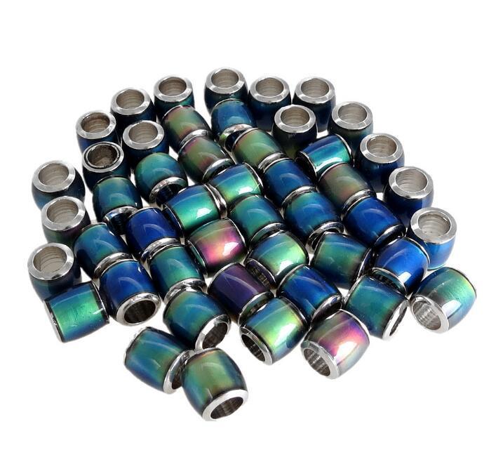 7 * 7mm mode perle humeur chanceux couleur Charm changer les accessoires de bijoux de perles