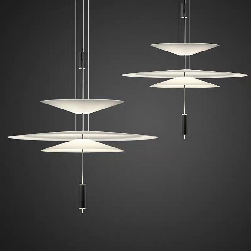 Modern minimalist yaratıcı kişilik uçan daire dekorasyon tasarımcının lamba yemek masası çubuğu kolye AC 100-240V ışıkları