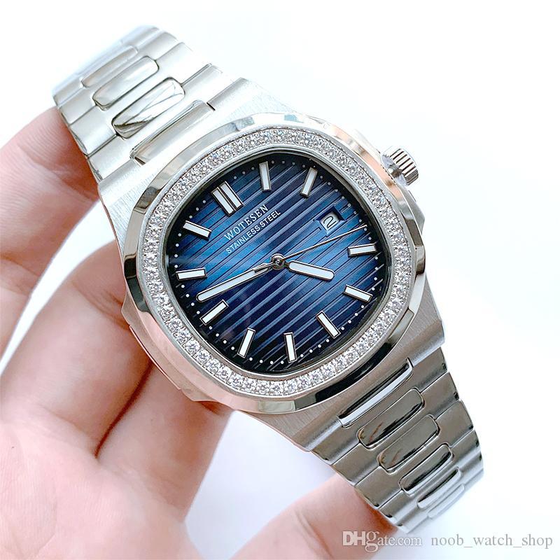 Relojes Relojes Hombres Acero de cuarzo 30m Reloj Luminoso 316L Calendario de acero inoxidable Hombres Business Impermeable Luxury 40mm Wristwatch Bmbga