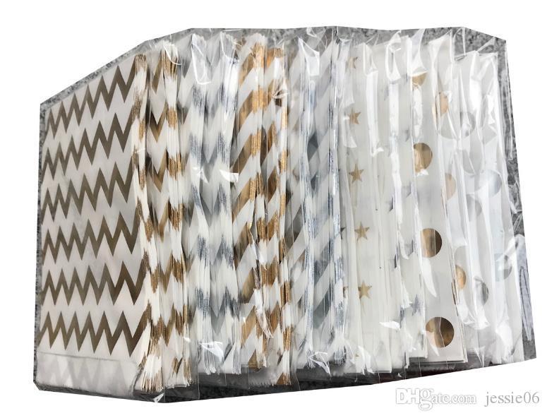 Candy Cookie Bag Oro argento foglio di carta Candy favore trattare le borse Metallico colorato regalo Wrap matrimonio compleanno Baby Shower Party Decor