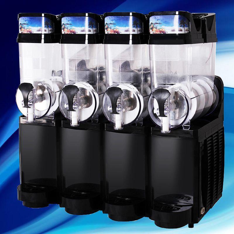 Ice drink snow grain 4-cylinder equipment restaurant stirring sand ice snow melting machine beverage automatic desktop