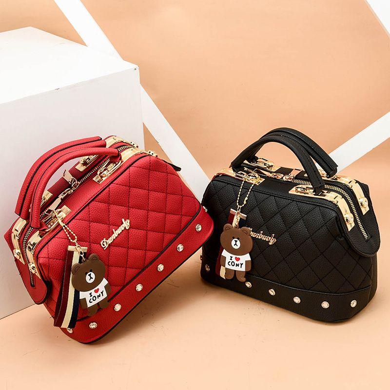 حقيبة جلدية ايمالي كروسبودي واحد كتف حقيبة صغيرة قطري الأزياء الكورية حقائب نسائية حقائب مصمم حقيبة المرأة الصغيرة