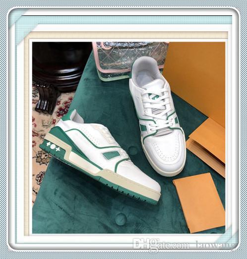 Повседневная мужская обувь кроссовки с оригинальной коробке туфли на платформе мужские кроссовки Zapatos para hombre Rhyton кожаные кроссовки мода размер 38-45