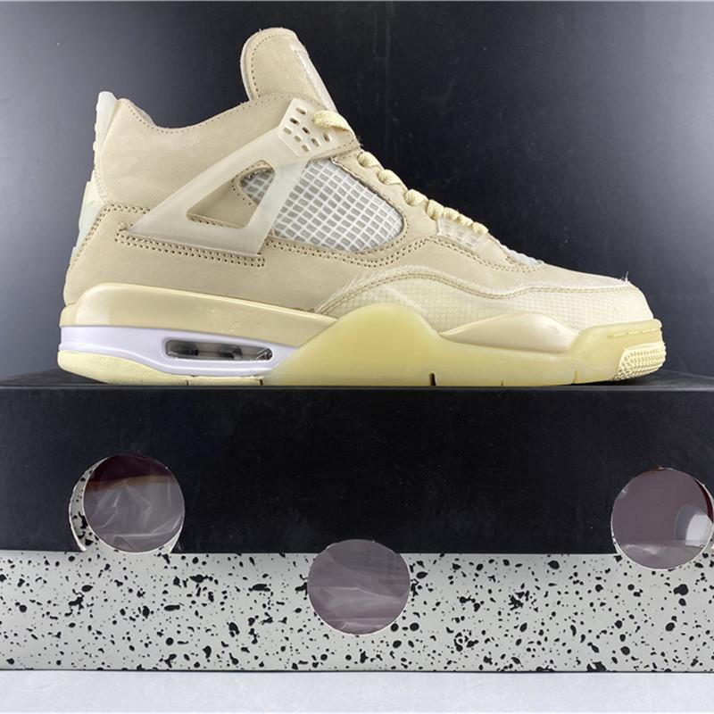 İyi Kalite Kapalı 4 SP Yelken Beyaz Basketbol Ayakkabı 2020 Yeni Sürüm IV Yelken Muslin Beyaz Spor Sneaker Boyut US7-13