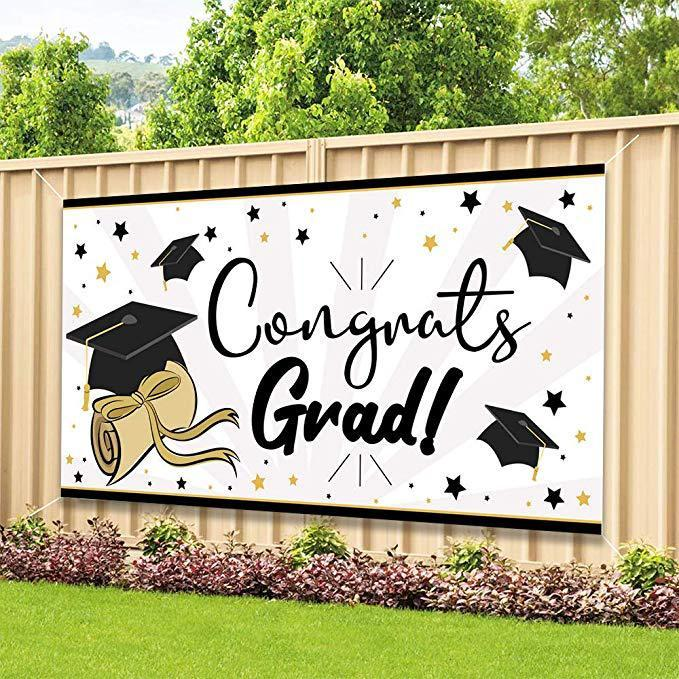 2020 Newest One Graduation Banner Graduation Party Supplies 2020 Extra Large 70 36 2019 Congrats Grad Decorations Supplies From Prime 06 8 88 Dhgate Com
