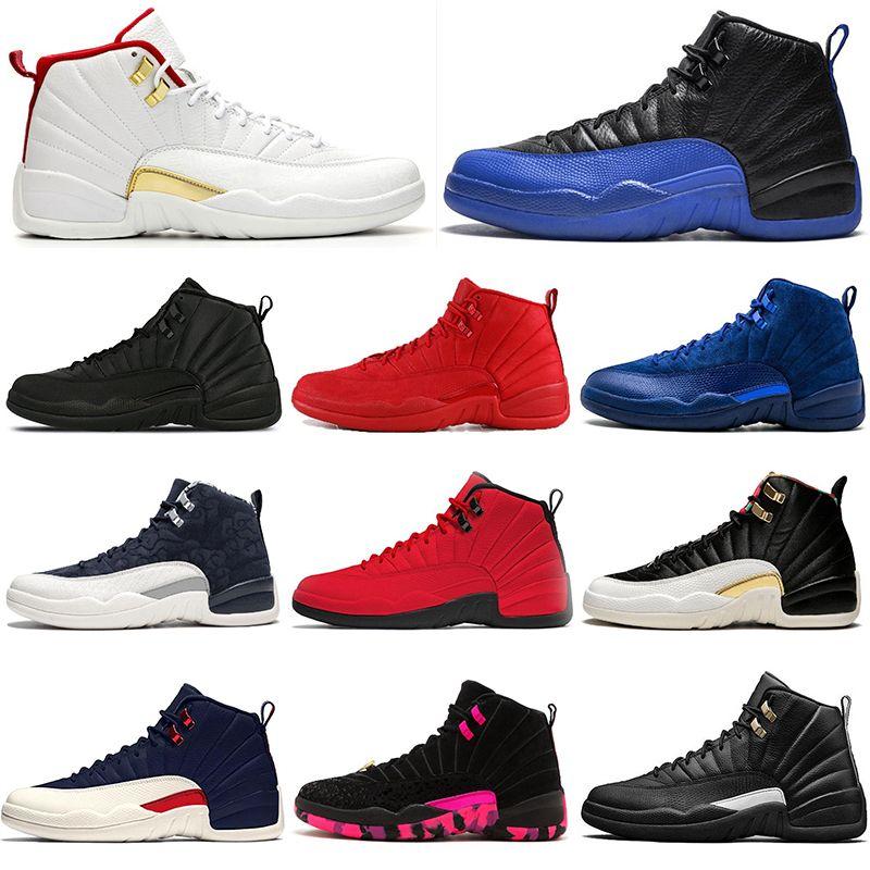Горячие Продажи ФИБА 12 12s Баскетбол Обувь Мужчины Игра Royal Gym Красный Белый Бычий Грипп Игры Мичиган дизайнер мужские кроссовки Спортивные Кроссовки