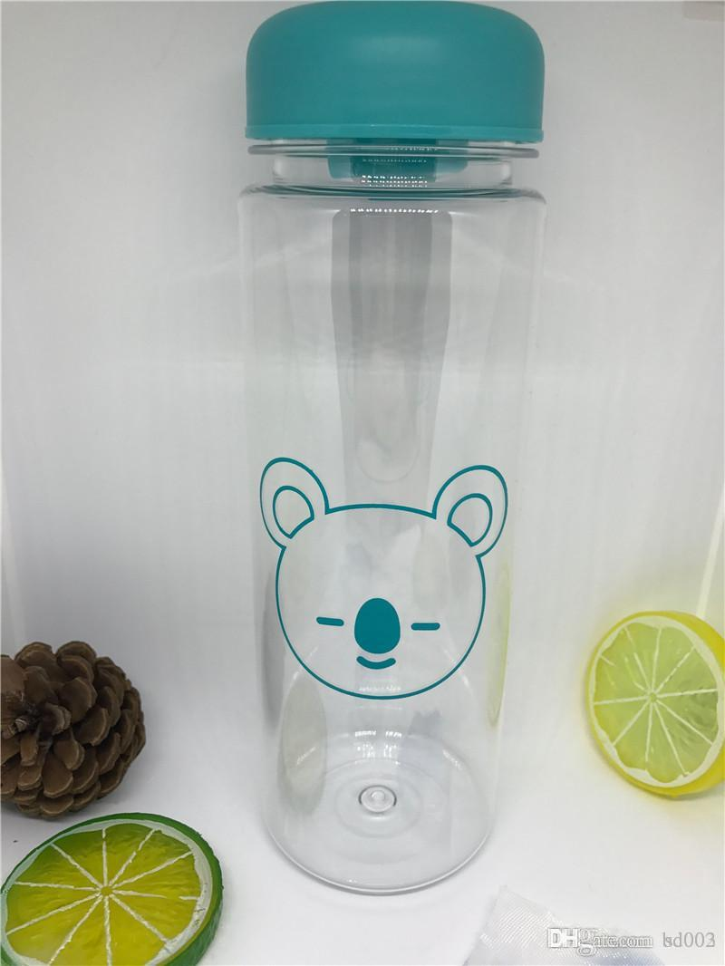 Plastic New Pattern Vocal Concert Cup Water Bottle Periphery Travel Accompany Transparent Tea Tumbler Rabbit Lion Easter 6 8swb1