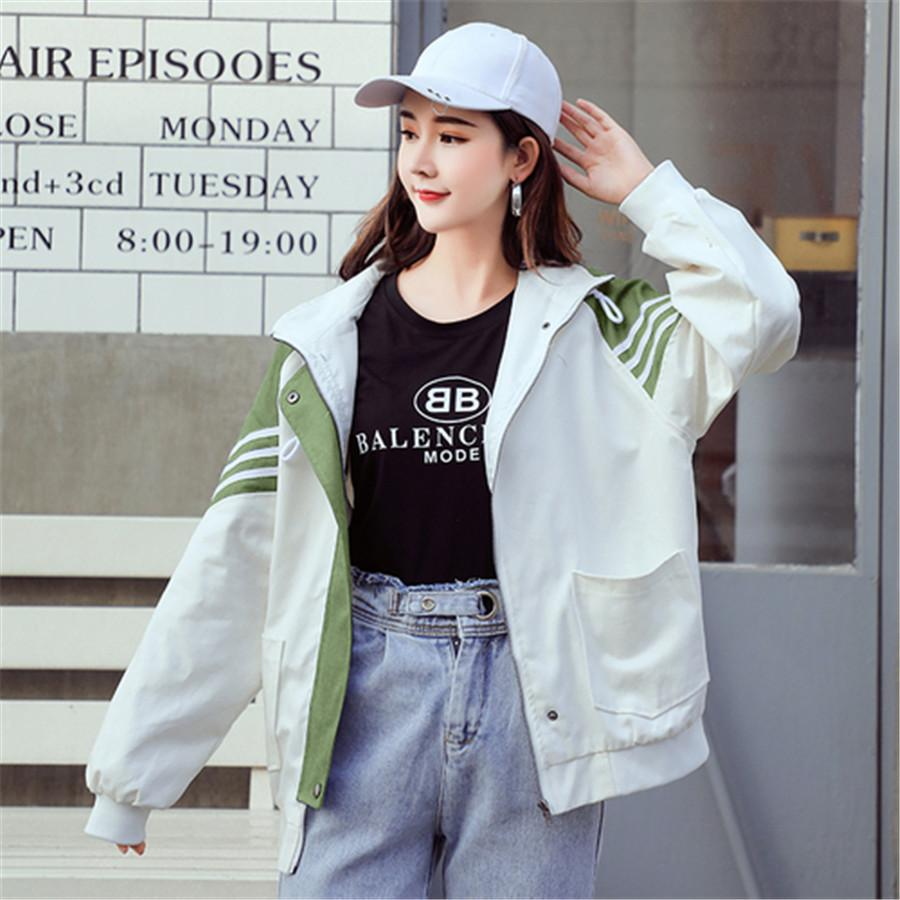 Les vêtements de coton de veste de haute qualité 2019 nouvelle mode dames occasionnels uniforme de baseball en vrac femmes de grande taille à capuchon