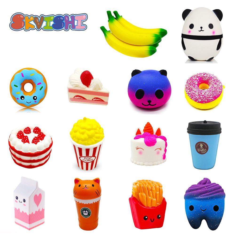 Antistress Squishy Panda Banana Squishe Gadget Novelty & Gag Toys Stress Relief Anti-Stress Practical Jokes Surprise Squshy Gift