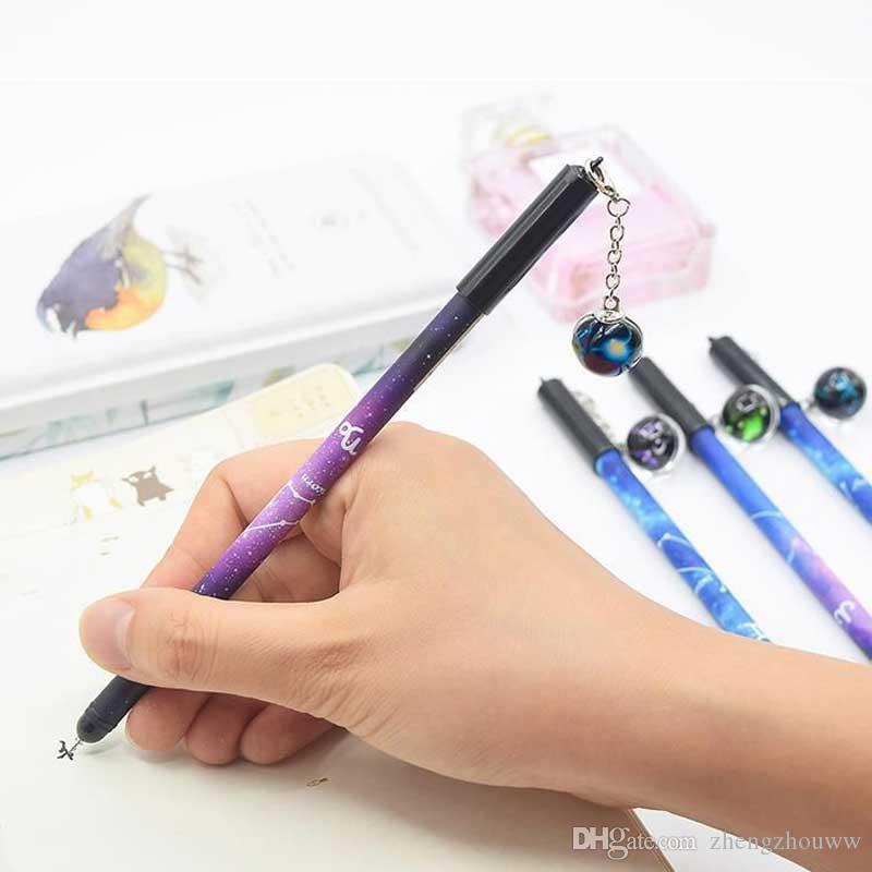 Zodiac Horoscope Blue ink Fountain Pen Gel Pen Sign Pen Office Student Supplies