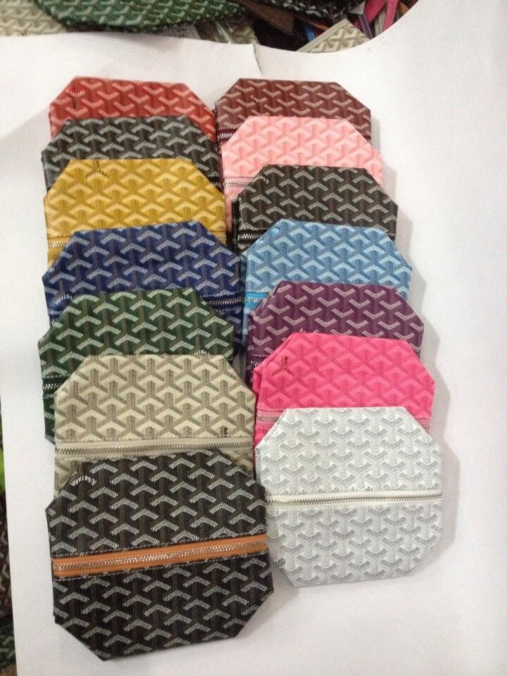 Goyarrd العلامة التجارية الجديدة المصمم جودة عالية الكلاسيكية جلد أصيل سينات مغلفة قماش القماش القابض