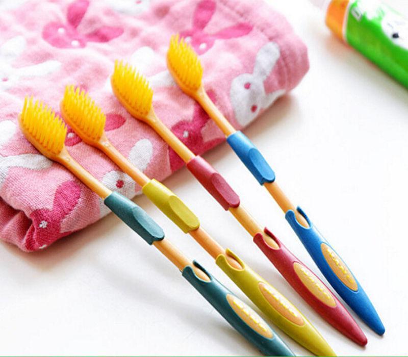 4pcs / lot doppi Ultra Denti spazzolino morbido pennello di bambù del carbone di legna Nano Oral Care Set