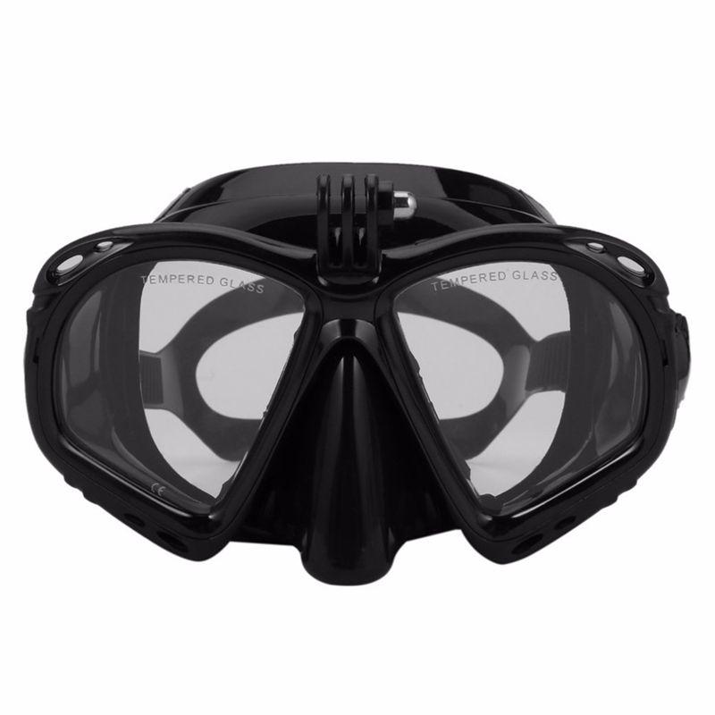Hot HG-professionnel Plongée sous-marine Masque de plongée sous Snorkel Lunettes de natation Équipement de Scuba Convient pour la plupart Sport Caméra,