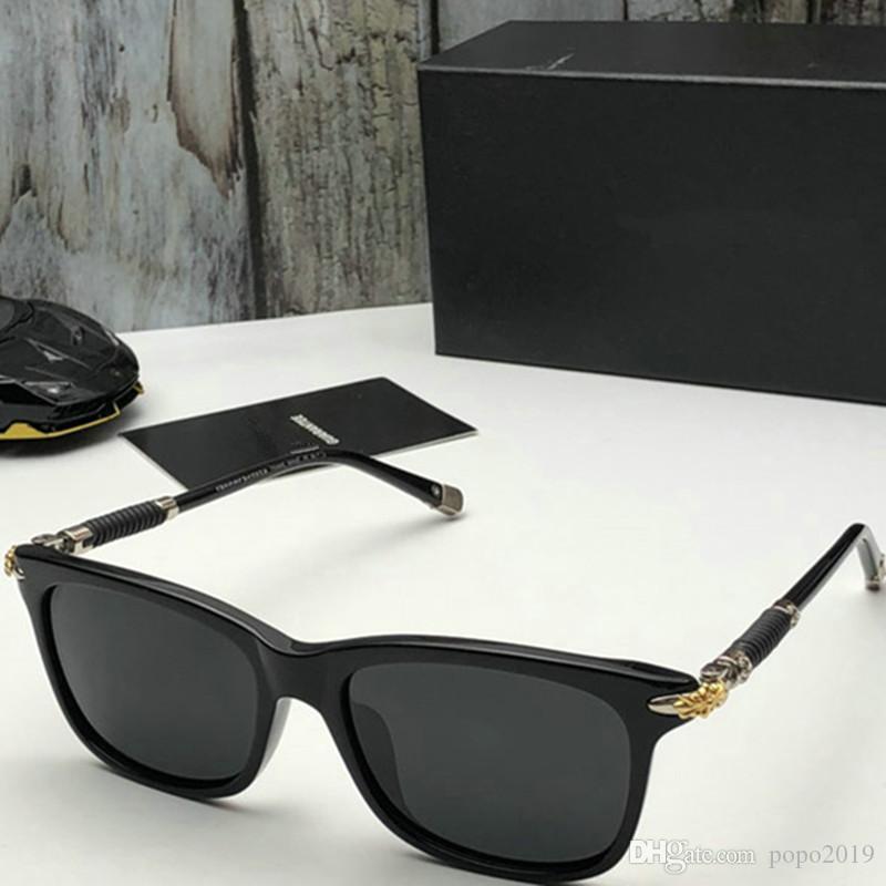 مصمم النظارات الشمسية الجديدة للرجال النظارات الشمسية الفاخرة النظارات الشمسية الرجال معدن تصميم خمر الأزياء نمط الإطار مربع للأشعة فوق البنفسجية 400 عدسة مع حالة