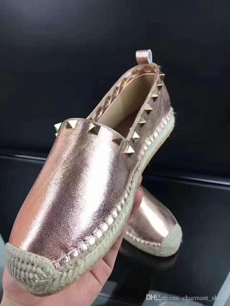 Fashion Casual etnica Espadrillas piatto singola scarpa 2019 New Woman Luna rivetti scarpe di stoffa scarpe pescatore corda di canapa Shoes