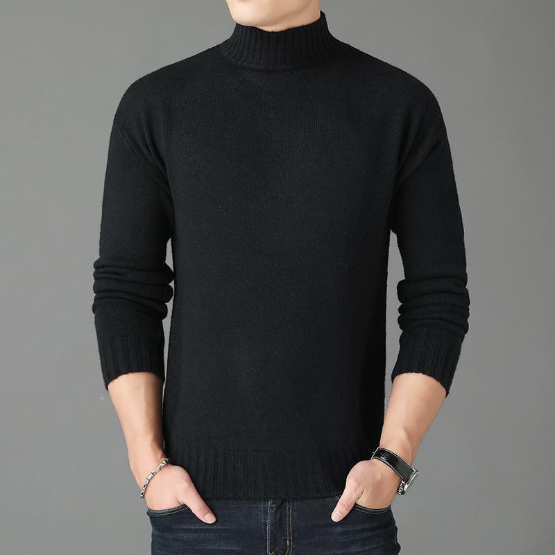 Il nuovo modo di lana casuale maglione a strisce Uomini Jersey Pullover Maglione Camisa Caldo Cotone Soprabiti Dropshipping