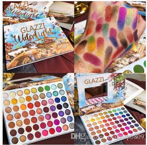 Eyeshadow Palette 63 colori corredo di trucco opaco di luccichio blendable Brillante Ombretto Pallete serica polvere, pigmentato colorata estate