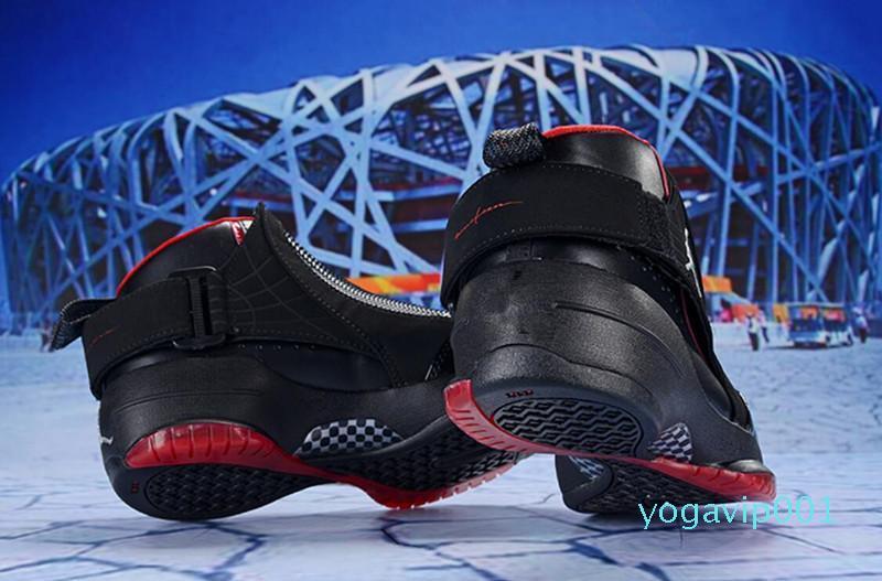 Siyah beyaz ustası GS Barons Kurt Gri gribi oyunu taksi playoff fransız Sneakers Boyut US7-US 13 2018 En iyi kalite 19 19s erkek basketbol ayakkabıları