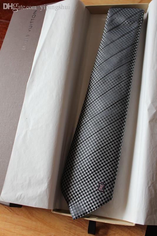 Gros-Livraison gratuite, cadeau d'anniversaire pour hommes, mode L maison de soie cravate affaires décontractée cravate de qualité mâle cravate jacquard de soie