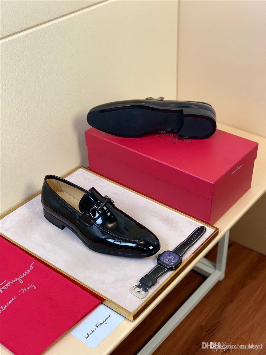 19FW Printemps Automne Hommes Chaussures de mariage formel de luxe Hommes d'affaires Robe Chaussures Hommes Mocassins Pointy à lacets en cuir véritable Hommes Chaussures LISY1