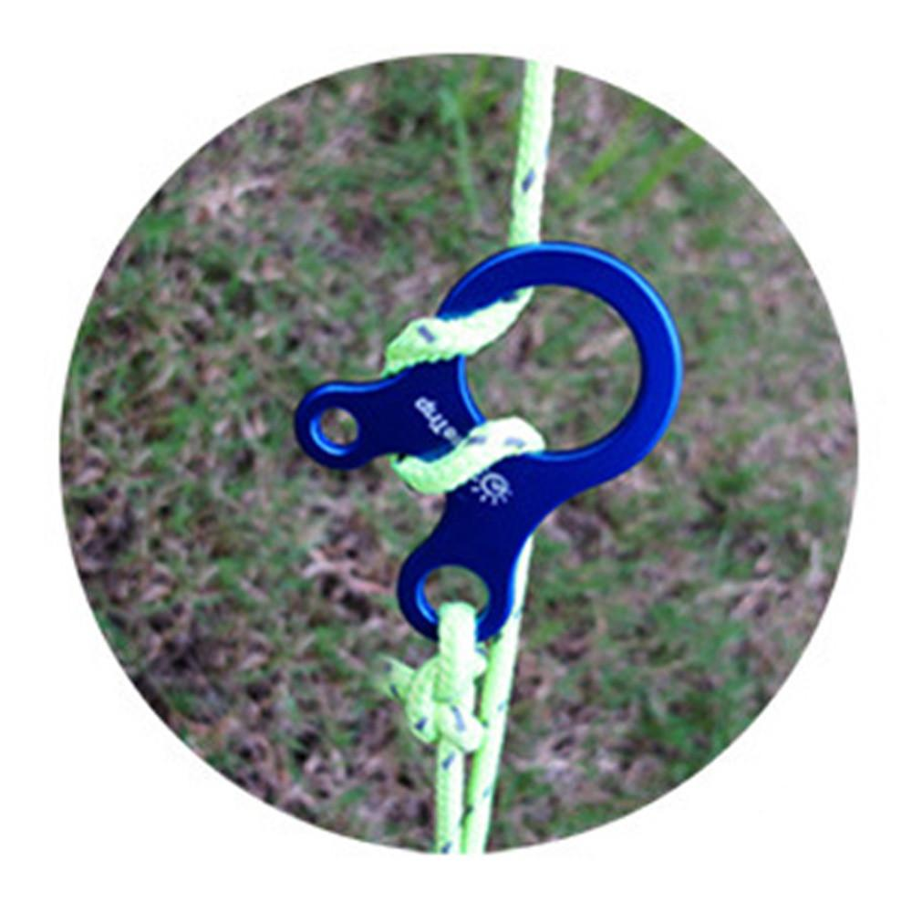 Outdoor Rope Three-hole Quick Tool Adjustment Buckle Tent Snail Wind Stopper 3 Colors Available