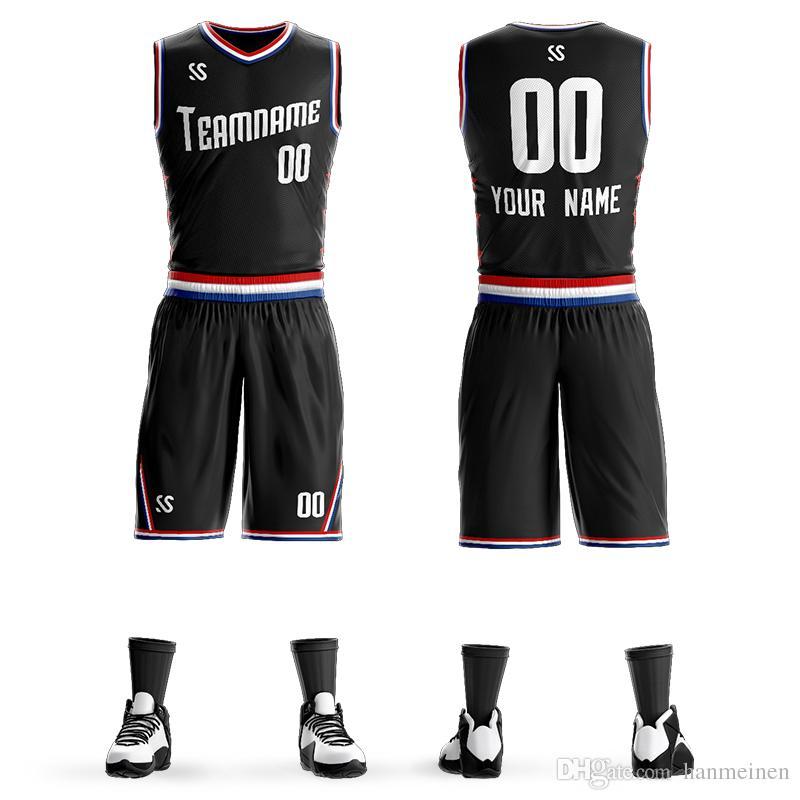 Commercio all'ingrosso personalizzato All-Star uniforme di pallacanestro LOGO numero Team Jersey Shorts Set Mens Gioventù bambini Studente Abbigliamento sportivo