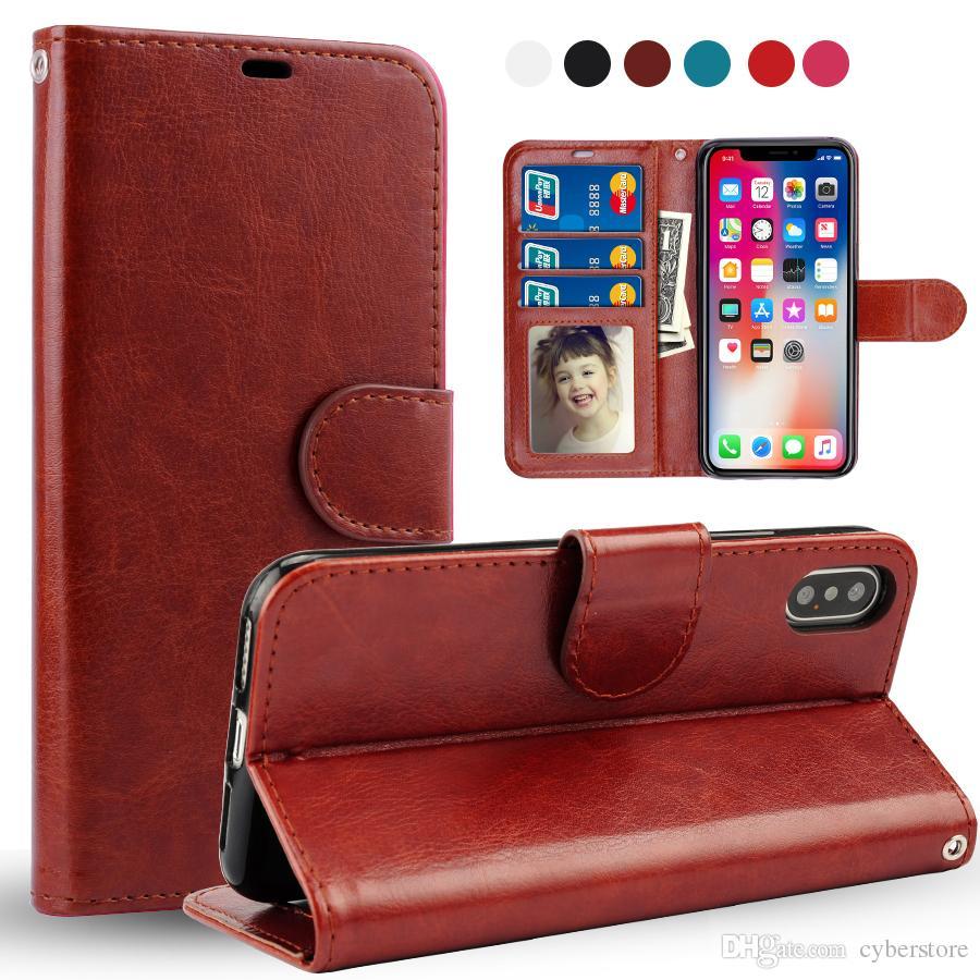 사이버 스토어 아이폰 (11) XS MAX XR 8 플러스 사이버 스토어 레트로 플립 스탠드 지갑 가죽 케이스 포토 프레임 전화 커버를 들어 삼성 S9 S10