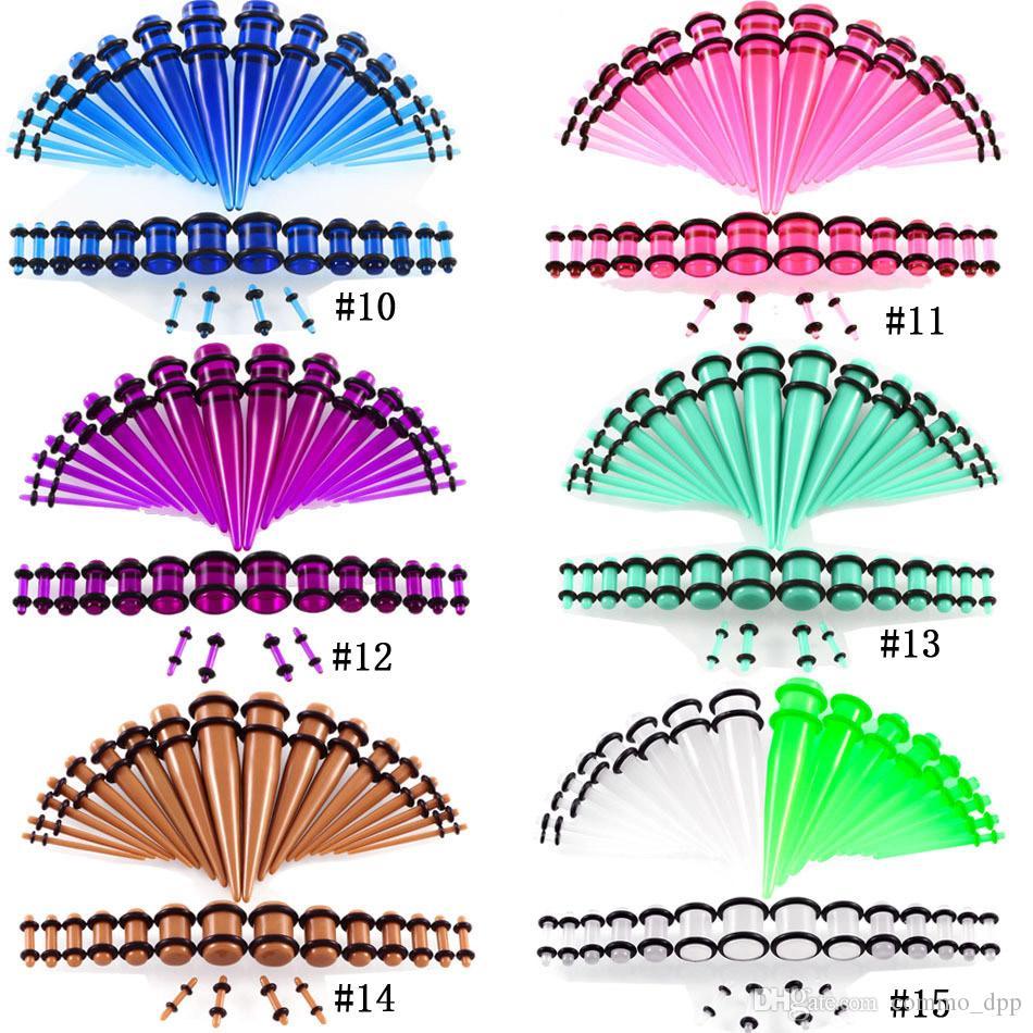 Acier Inoxydable Oreille Expansion bijoux d/'étirement Tunnel Chair Tube Body Piercing