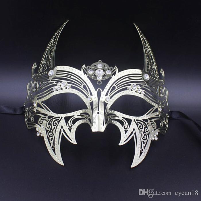 Показать фотографии Реквизит маскарад партии маска Косплей Премиум Metal Mask Halloween для взрослых