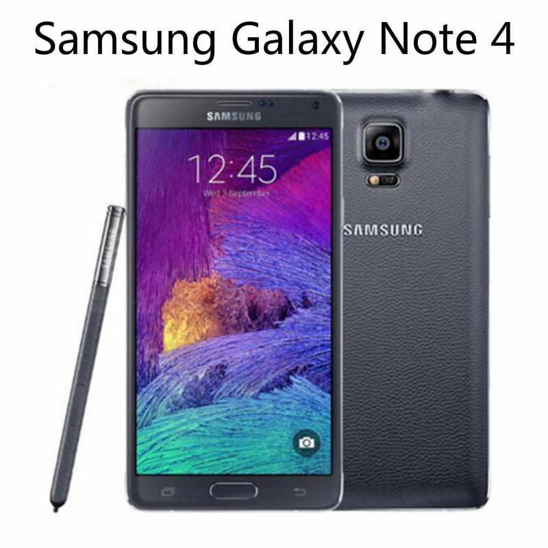 Recuperado Original Samsung Galaxy Note 4 N910A / T / V / F Desbloqueado Cell Phone 16MP câmera 3GB de RAM 32GB Rom 5,7 '' telefone toque