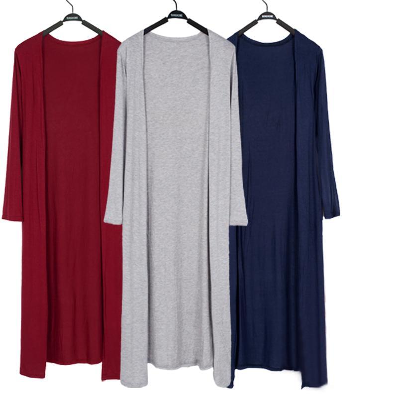 카디건 여성 2019 Summer Long Thin Feminino 모달 목도리 롱 슬리브 플러스 사이즈 코트 Sunscreen Clothing Cardigan Jacket
